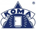 Koma logo  pms 281 FC lijn